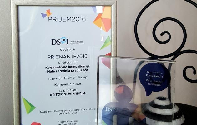 Agencija Blumen group dobitnik godišnjeg PRiznanja