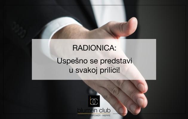 """Radionica: """"Uspešno se predstavi u svakoj prilici!"""" 30.05.2017."""